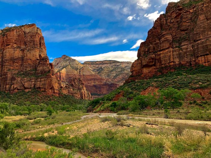 Zions National Park, Angels Landing Angels Landing Zions National Park Beauty In Nature Scenics - Nature Tranquility The Great Outdoors - 2019 EyeEm Awards Landscape