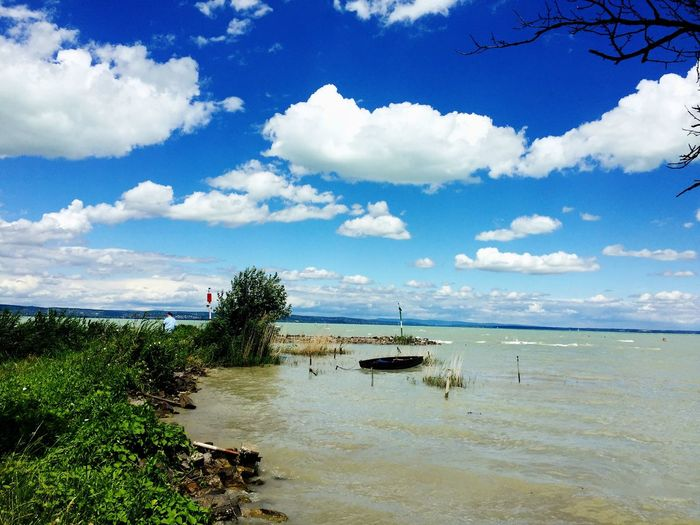 Balaton Balaton Lake Beauty In Nature Horizon Over Water Sommergefühle Cloud - Sky Water Nature Beach Tree Blue Boat Warm Balatonszéplak