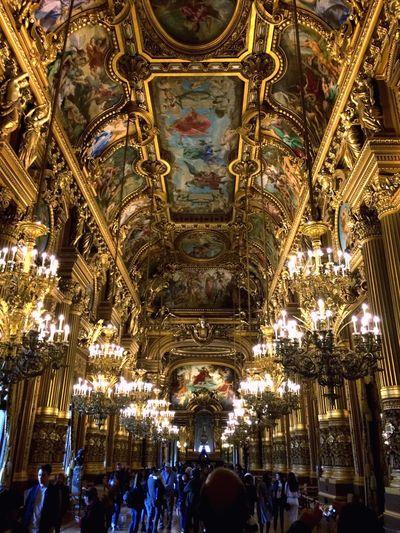 Palais Garnier People Paris Operahouse Indoors  Gold Architecture Art Is Everywhere