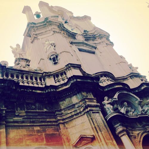 Seeing things in Trapani. Trapani Sicilia Sicily Church Monuments Neighborhood Map From Below