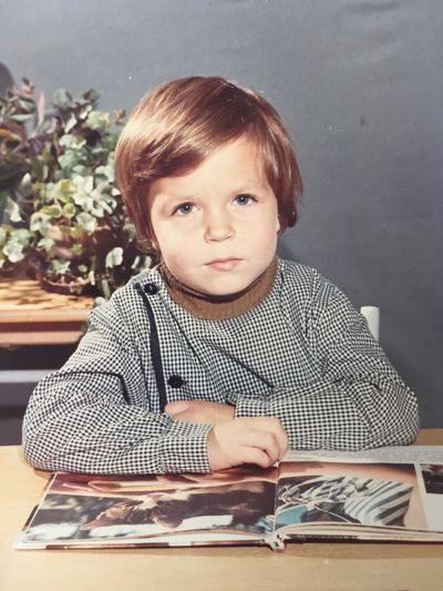 Childhood Portrait Looking At Camera One Person Indoors  Paper Headshot Child Blond Hair Close-up Day People