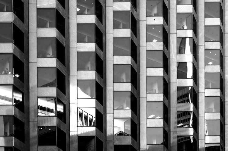 Architecture Architecture With WhiteWall Blackandwhite Bnw Bnw_architecturelines Bnw_friday_eyeemchallenge Building Building Exterior City EyeEm Best Shots Fortheloveofblackandwhite Geometry Glass Glass - Material Lines Patterns Shootermag Structures Texture Urban Window Beautifully Organized Welcome To Black California Dreamin
