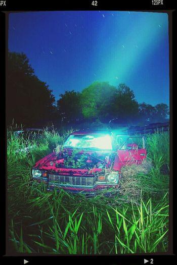 Alien abduction Lightpainting Nightphotography Long Exposure Rural Decay #rurex