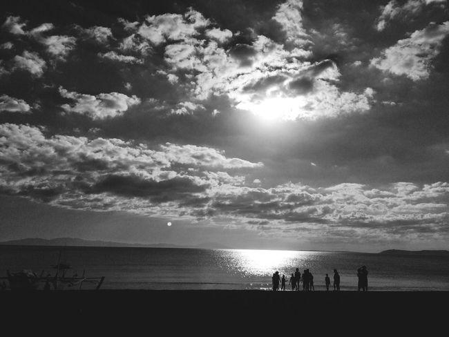 Blackandwhite Beach Mobilephotography Sunset
