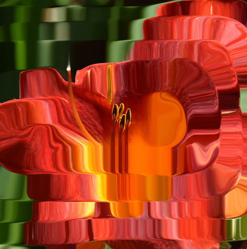 Candle Distort Art Distortion Distortions  Orange Color Orange Flower Showcase July Spiral Tealight 43 Golden Moments Playing With Effects Abstract Lily Flower Fine Art Photography
