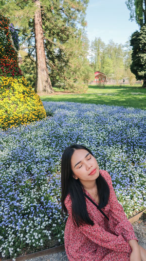 Good vibes Fashion Garden Flowers Nature Travel Weekend Asian Girl Beautiful Woman Europe Flower Flowers Garden Germany Island Lifestyles Long Hair Outdoors Plant Portrait Summer Women Young Adult Young Women