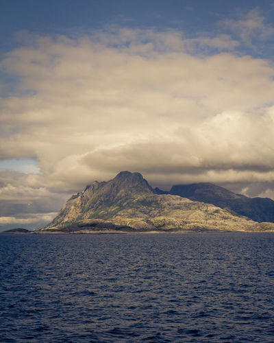a mountain outside Bodø Beauty In Nature Cloud - Sky Day Mountain Nature No People Outdoors Scenics Sea Sky Tranquil Scene Tranquility Water Waterfront