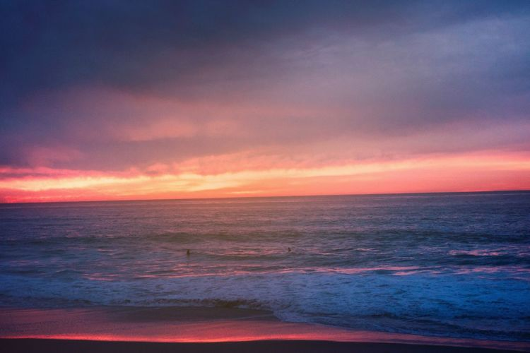 Moody PNW Beauty In Nature California Sea Sky Water Beauty In Nature Sunset Scenics - Nature Cloud - Sky Horizon Over Water Horizon Tranquil Scene Orange Color Beach Nature Outdoors Romantic Sky Tranquility