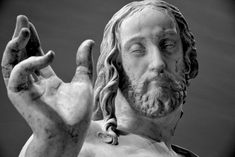 Close-up of jesus statue