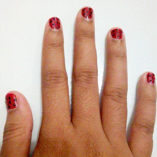 iseng ga ada kerjaan. bingung mau ngapain. Nailart  Nail Art Tonight Nojobs Freak Instalike Instagram Like4like Finger
