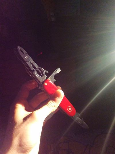 Swiss Knife Hand Human Hand Human Body Part One Person Holding Real People Lifestyles