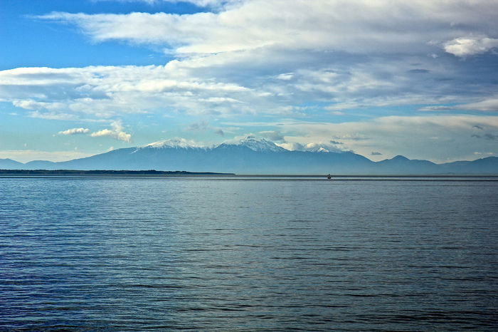 Beauty In Nature Mountain Nature Scenics Sea Sky Thessaloniki Greece Thessaloniki Port  Water