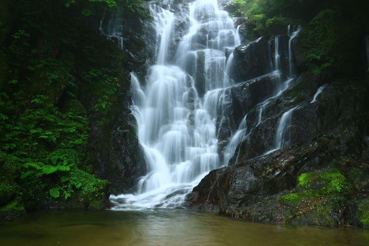 River flowing through rocks