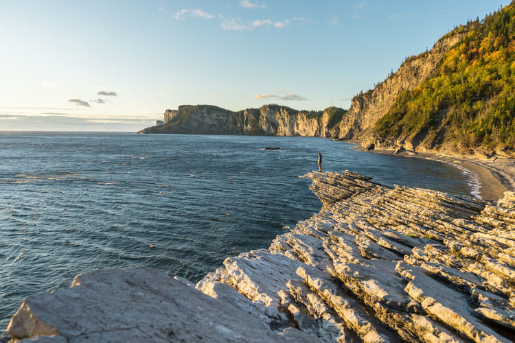 Autumn EyeEmNewHere Hiking Travel Beach Cliff Fall Forillon National Park Landscape Nature Sea Sunrise Travel Destinations Water