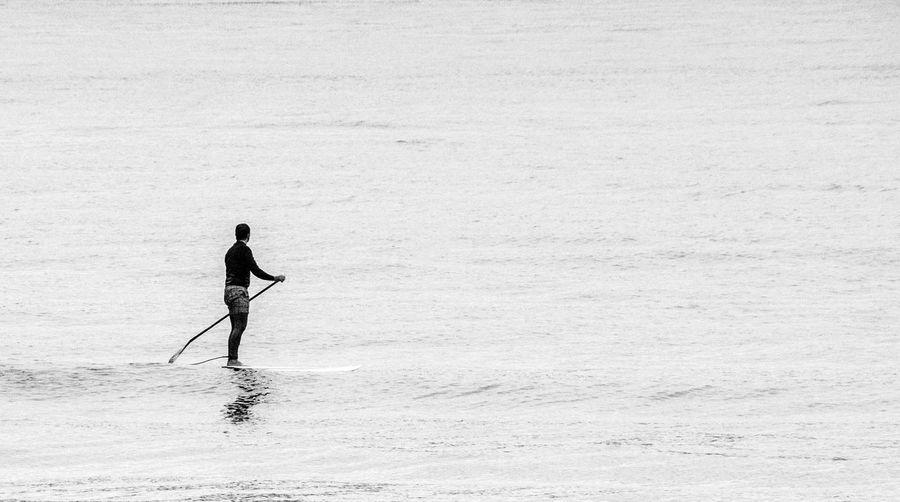 Full length of man in sea