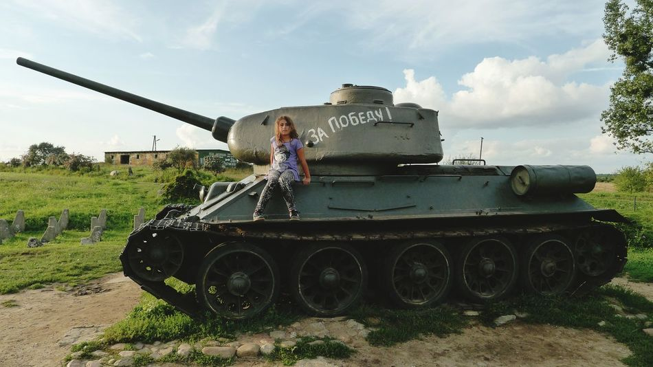 My little daughter on the russian tank... Tank Military Military Vehicles Military Car Russian Girl On Tank Exceptional Photographs
