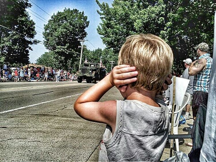 Boy covering ears at a parade HDR Color Explosion Color Parades Parade Time Parade Summertime Summer Childhood Memories Kids Being Kids Kids Having Fun Boy Kids Son Child Childhood Colors EyeEm Best Shots Children Photography EyeEm Gallery Having Fun Americana America Forth Of July July 4th