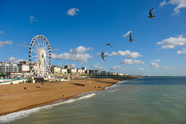 Ferris wheels by the sea. By The Sea Brighton Uk Brighton Beach Brighton And Hove Brighton Pier Water Sky Sea Ferris Wheel View Ferris Wheels Ferriswheels Ferris Wheel Carnival Rides Ferris Wheel In The Distance Ferriswheelviewpoint
