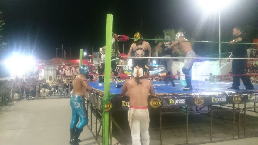 Night Sport Competition Competitive Sport Stadium Match - Sport Adult Fun People Illuminated Soccer Men Event Fan - Enthusiast Sports Team Large Group Of People Team Sport Audience Only Men Lifestyles Mexican Wrestling Fun Enjoyment Leisure Activity Lucha Libre