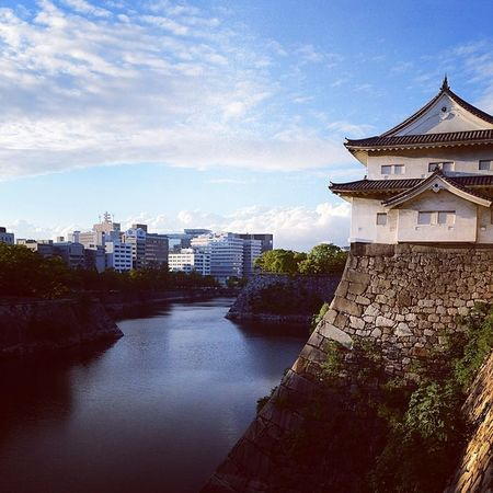 Japan OSAKA 大阪城 River instagood followme igers tower building architecture photooftheday stone white