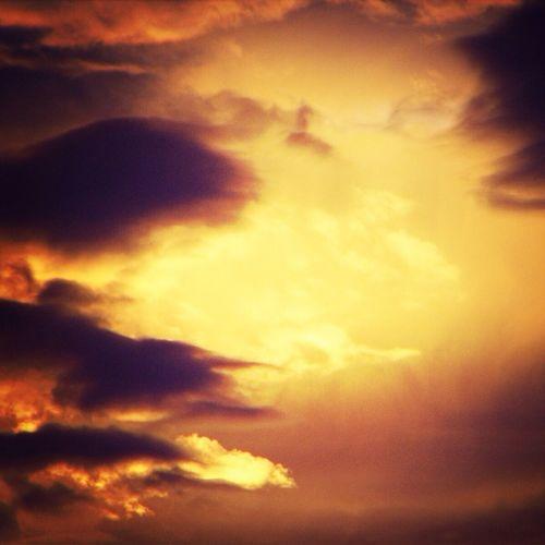 旅人岬より夕焼け雲