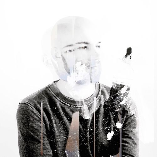 'HOMME' Mixedmedia ArtWork Anne Schubert Digitalart  Portrait Collageart