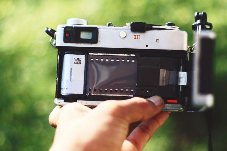 Rangefinder camera with film