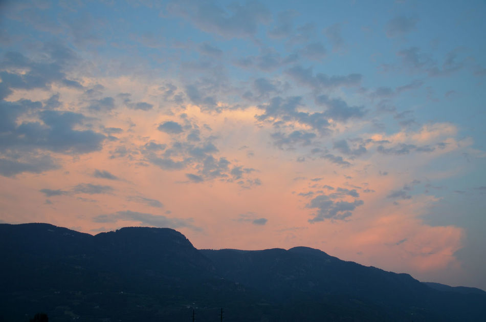 Let it all go... Marling Südtirol Beauty In Nature Cloud - Sky Cotton Wool Clouds Day Fleecy Clouds Low Angle View Mountain Nature No People Outdoors Scenics Silhouette Sky South Tyrol Sunset Tranquil Scene Tranquility