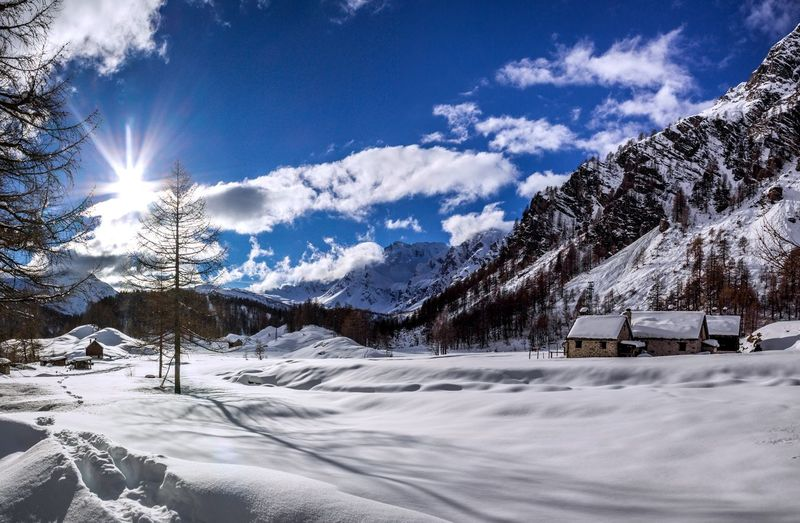 Winter Cold Temperature Snow Mountain Sky Scenics - Nature Tranquil Scene Tranquility Snowcapped Mountain Beauty In Nature Blue No People Nature EyeEm Best Shots EyeEmNewHere EyeEm Nature Lover EyeEm Selects EyeEm Gallery Landscape Tranquility Scenics Relaxing Reflection Day Cloud - Sky