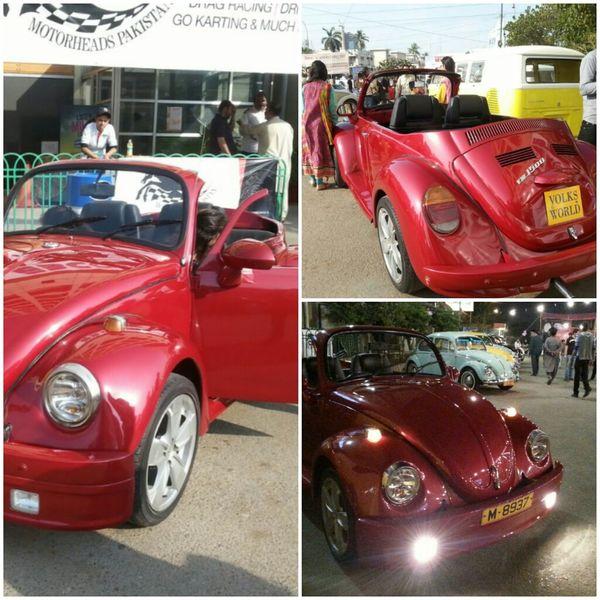 Everyday Joy Volkswagen Bettle Vintage Cars Volkswagen 60's model modify in 2014 , Karachi - Pakistan at Forum Center 31-1-2015
