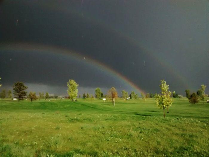 Double rainnow Taking Photos Enjoying Life Landscape Golfing