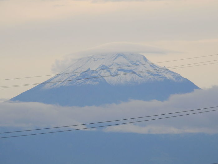Popocatepetl Puebla Beauty In Nature Cloud - Sky Day Low Angle View Mountain Mountain Peak Nature No People Outdoors Popocatepetl Scenics - Nature Sky Snow Snowcapped Mountain Tranquil Scene Tranquility