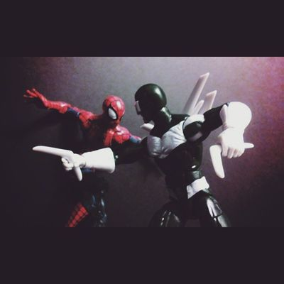 """Arghh Stop squirming you!!"" Actionfigurephotography ACBA Actionfigures Manchild Marvellegends Marvelentertainment Figurelife Figures Figurecollection Collection Collector Spidey Disney Spideyverse Boomerang  Spiderman Hasbro Amazingspiderman Webslinger Webhead Peterparker"