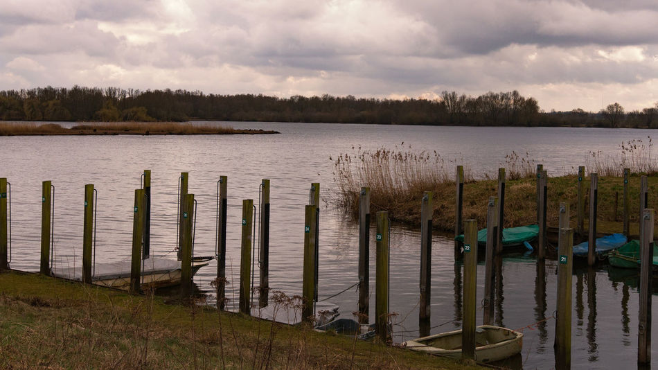 Landscape Nature Outdoors Relax Sky W Water Wooden Posts