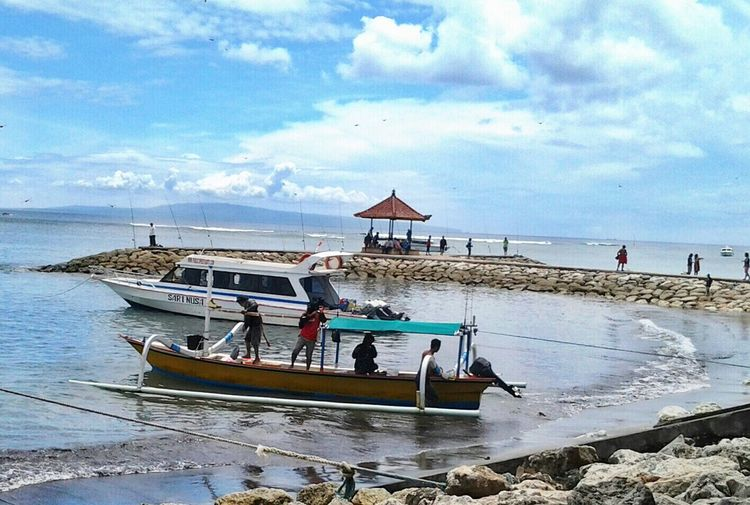 traditional boat of Indonesia,. Relaxing Holiday Enjoying Life Getting Inspired Traveling Clouds And Sky From My Point Of View Nature How's The Weather Today? Art