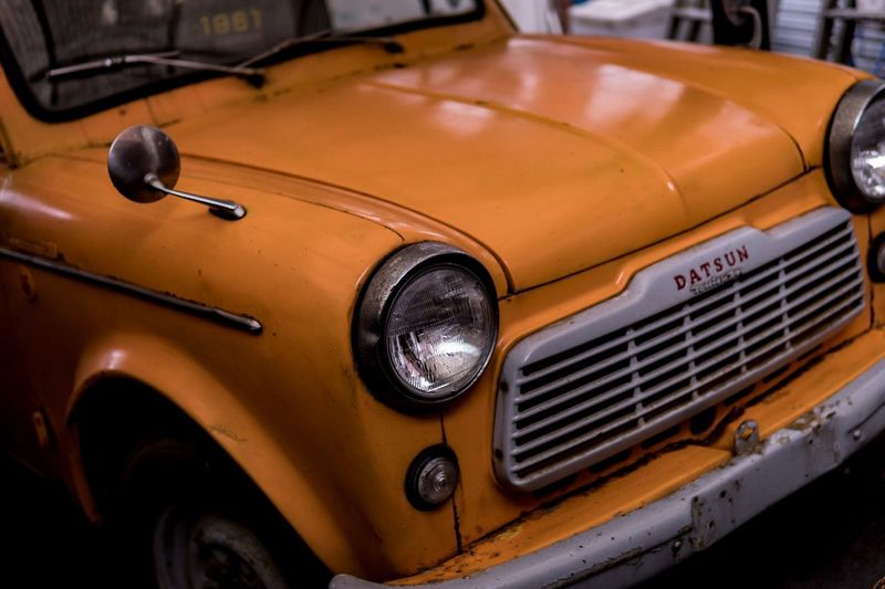 Headlight Car Retro Styled Vintage Car Mode Of Transport Transportation Old-fashioned Vintage Land Vehicle No People Close-up Collector's Car Outdoors Day