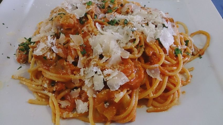 Esta Noche Whatsonmyplate un bueno Spaghetti Parmigiana the Spicy version