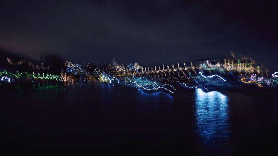 Night Outdoors Sydney Harbour  Long Exposure Sonyrx100v