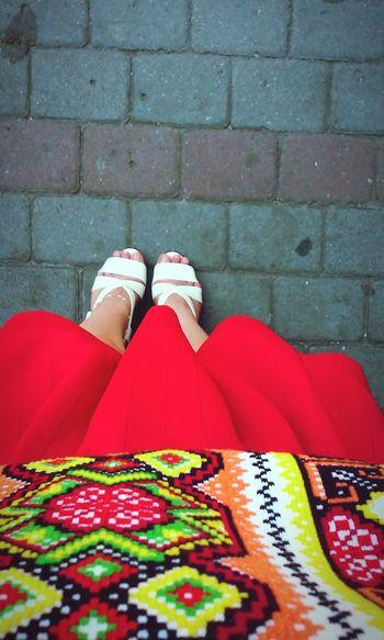 Typical ukrainian clothes вишиванка україночка Україна початок навчання Ukrainian  Ukrainian Girl Red Skirt