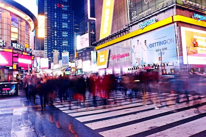 New Yorkers Come and Go City View  City Life Canonphotography Canon 70d Rhythm Of Life New York City Life Time Square, New York 42 Street New York Street Photography New York ❤ People Photography New Yorker Photoshoot Photooftheday Photographylovers Photographer Photographer Broadway Midtown Manhattan Manhattan Long Exposure Come And Go Manhattan Architecture Building Exterior City Large Group Of People Travel Destinations Illuminated City Life Mobility In Mega Cities EyeEmNewHere Press For Progress