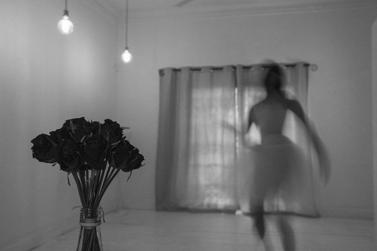 fading memory // The Minimalist - 2019 EyeEm Awards The Creative - 2019 EyeEm Awards My Best Photo The Portraitist - 2019 EyeEm Awards Newlywed Reflection Wedding Rear View Ballet Ballerina Dance Dancer Ghost Slow Shutter Motion Blur Nostalgia Memories Ghostly Lonely Home Concept Editors Pick's EyeEm EyeEm Best Edits EyeEm Gallery EyeEm Selects EyeEm Best Shots Casual Clothing Bride Arts Culture And Entertainment Clothing Flower Flowering Plant Fashion Leisure Activity Blurred Motion Motion Illuminated Lifestyles Lighting Equipment Full Length Adult Women Indoors  Real People One Person The Week on EyeEm The Architect - 2019 EyeEm Awards