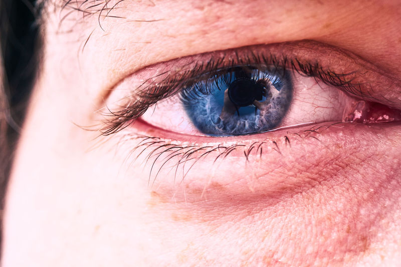 Cropped image of young man eye