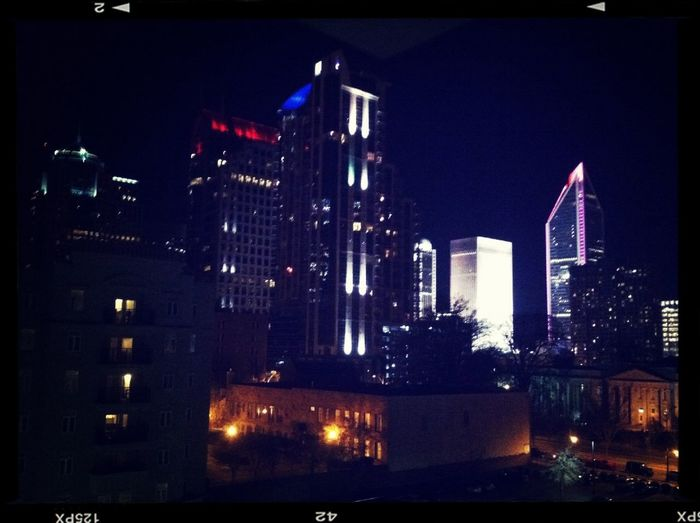 2 AM view of Uptown Charlotte