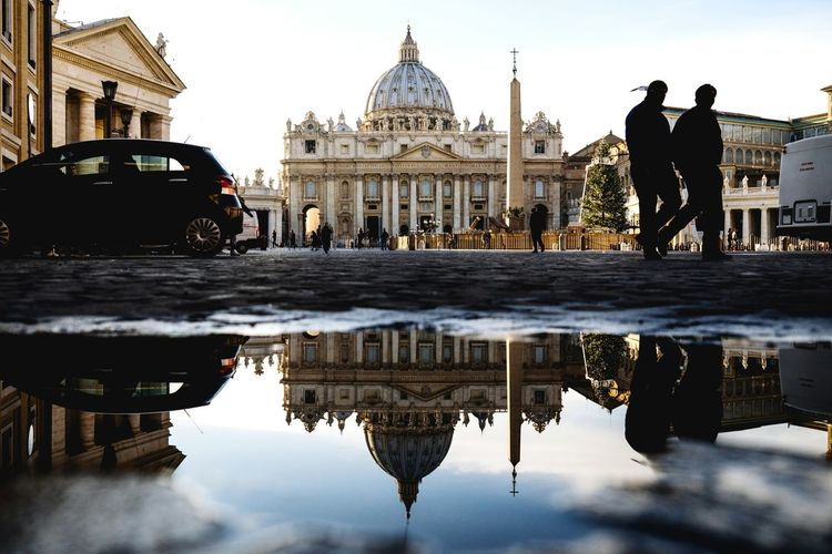 Vatican/St Peters StPetersBasilica Vatican Italy EyeEm Best Shots The Moment - 2015 EyeEm Awards Puddleography Puddle Reflections Water Reflections The Traveler - 2015 EyeEm Awards The Street Photographer - 2015 EyeEm Awards Been There.