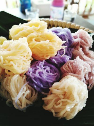 ขนมจีน Food Color Noodle Thai Color Of Food