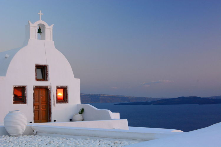 White chapel. Oia. Santorini Aegean Aegean Sea Blue And White Chapel Church Cyclades Greece Greek Greek Islands Islands Mediterranean  Mediterranean Sea Oia Oia Santorini Oiasunset Reflections Santorini Tourism Greece Travel Travel Photography