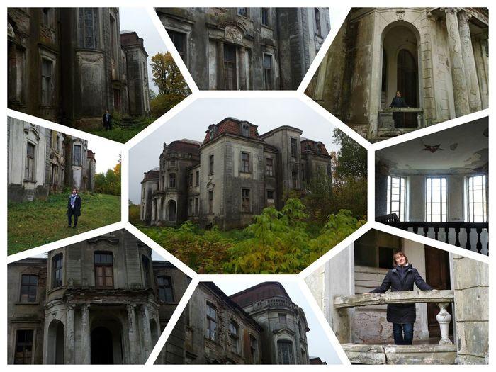 architecture belarus haus with reductions Autumn Architecture Belarus Traveling In Belarus One Person Historical Place дворец Святополк-Четвертинских в Желудке