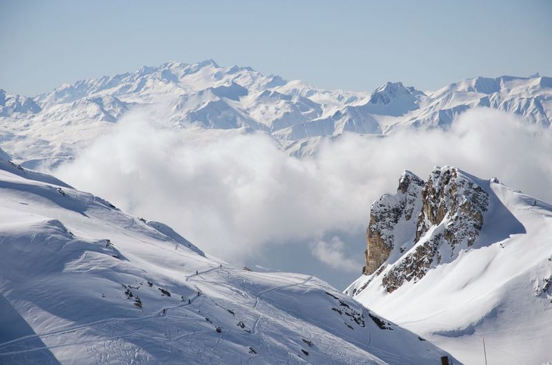 Alps Alps Snow Snowcapped Mountain Winter Skiing