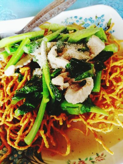Plate Vegetable Close-up Food And Drink Noodles Noodle Soup Served Soup Vegetable Soup Thai Food Ramen Noodles