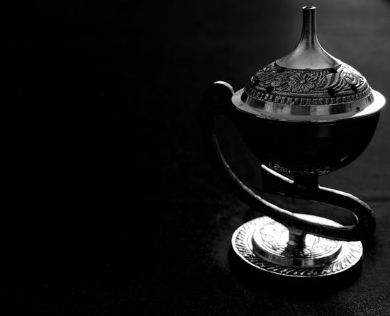 Black Black & White Black And White Black Background Censer Close-up Illuminated Incensory Indoors  Man Made Object Metal No People Shadow Single Object Still Life Texture Textures And Surfaces Thurible